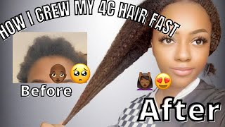 HOW TO GROW  NATURAL 4C HAIR FAST