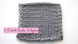 Knitting Help - i-Cord Side Edging