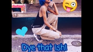 How To Dye Natural Hair Blue