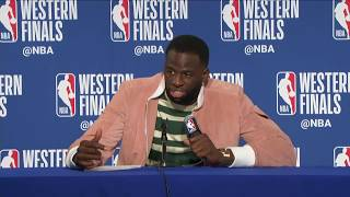 Draymond Green Postgame Interview   Rockets vs Warriors Game 3 - Video Youtube