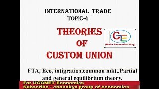 #4- theory of custom union, FTA, Eco. Integration, common mkt and economic union-int. Trade part-4