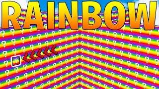 MINECRAFT 1V1V1V1 RAINBOW LUCKY BLOCK WALLS! - MINECRAFT MODDED MINIGAME