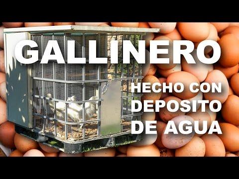 🐓🐓  Gallinero 🐔 casero portátil hecho con depósito de agua