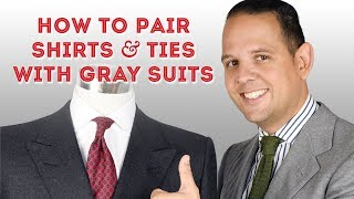 How To Pair Shirts & Ties With Gray Suits - Guide To Wearing Grey