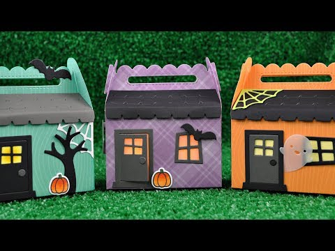 Lawn Fawn - Scalloped Treat Box Haunted House Add-On, Stanssisetti