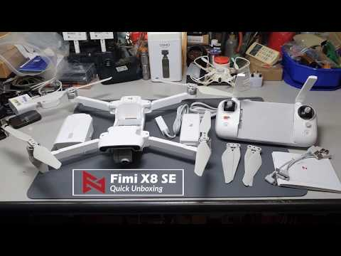 FIMI X8 SE UNPACK SLIDE SHOW AND ALL AVAILABLE EXTRA PARTS