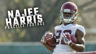Watch Najee Harris run drills during the Alabama Crimson Tide