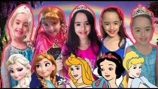 FUI CLONADA PRINCESAS DISNEY  -Five little Babies Jumping on the bed song,nursery rhyme for children