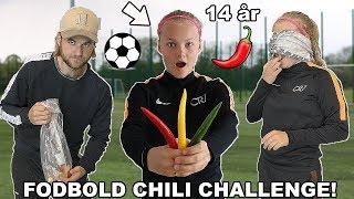 FODBOLD CHILI CHALLENGE MED 14-ÅRIG PIGE!
