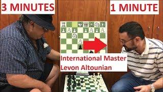 IM Altounian Gives Carlini 3 Min vs. 1 Min Time Odds!