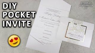 DIY Pocketfold Invitation With Printable Pocket Template | Wedding Invitations