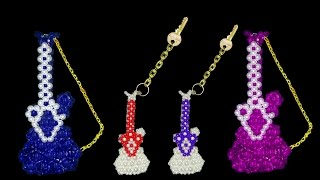 DIY - How To Make a Keychain || Beaded Guitar Keychain - Part 1 || Beaded Keychains
