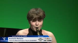 Anastasiia Koniaeva plays Chant du Ménestrel opus 71, Alexander GLAZUNOV