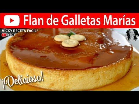 FLAN DE GALLETAS MARIAS | Vicky Receta Facil