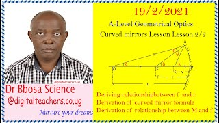 Concave and convex mirrors lesson 2 of 2 (A-level)