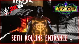 Wrestlemania 34: Seth Rollins Entrance - Video Youtube
