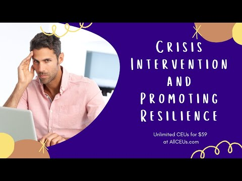 Crisis Intervention and Promoting Resilience - YouTube