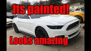 Rebuilding a wrecked 2017 mustang part 3