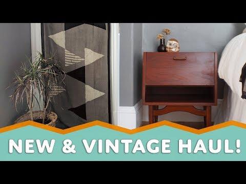 VINTAGE HOME DECOR & FURNITURE HAUL – Plus Handmade! (Boho Inspired)