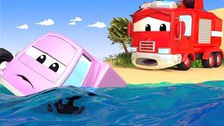 Авто Патруль -  Речной ПАВОДОК - Автомобильный Город  🚓 🚒 детский мультфильм