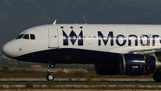 preview picture of video 'Monarch Airbus A320s & A321s Landing at Palma de Mallorca Airport [PMI-LEPA]'
