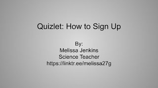 How to sign up for Quizlet and join the class