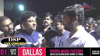 Exclusive with DSP (DeviSri Prasad) - Live in concert - Dallas Texas -2018