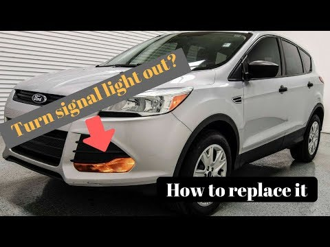 2013 ford escape front turn signal bulb replacement. Driver and passenger.