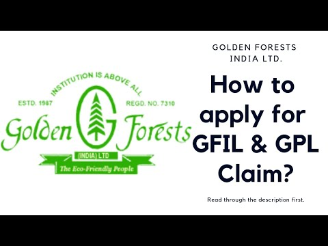 How to apply for Golden Forest & Golden Projects claim?