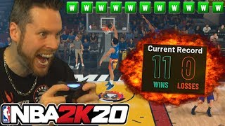 Going 12-0 on NBA 2K20