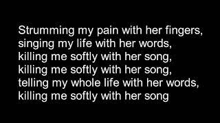 Frank Sinatra  - Killing me softly with lyrics