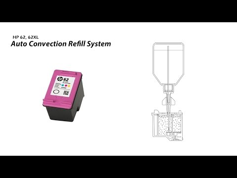 How to Refill HP 62 62XL Color Ink Cartridge - Auto Convection Refill