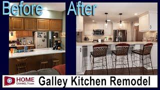 Before & After Galley Kitchen Remodel By KLM Kitchens Baths Floors | Kitchen Design Ideas