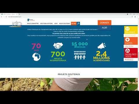 Le site web du CCFD-Terre Solidaire
