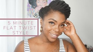 Elegant 5 Minute Flat Twist Style On Stretched 4C Natural Hair