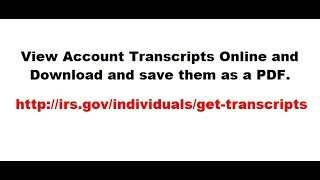 How to view your IRS Account Transcript online to see a list of transaction codes on your tax return