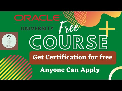 Oracle University Free Certification | FREE Online Learning and ...