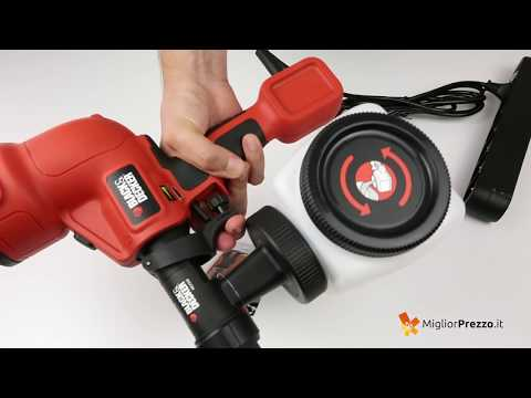 Pistola a spruzzo Black & Decker HVLP200-QS Video Recensione