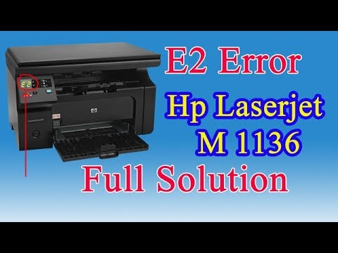 fix hp printer laserjet M125a Error E1 - смотреть онлайн на