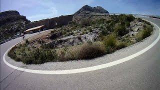 preview picture of video 'Rennrad Abfahrt Mallorca Sa Calobra Coll Dels Reis Mallorca Komplett'