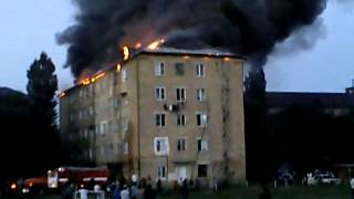 Пожар в 5-ти этажке в Избербаше