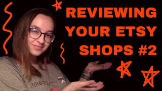 Reviewing Your Etsy Shops #2 [CC] | Alex's Innovations