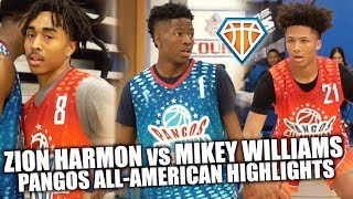 ZION HARMON vs MIKEY WILLIAMS!! | + SLEPT ON GUARD Frankie Collins Was GETTING BUCKETS