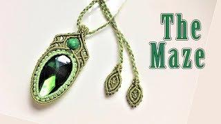 Macrame Tutorial - The MAZE Necklace - Third Element Of Elegant And Beautiful Macrame Jewelry Set