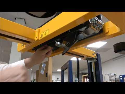 CT 103 SD: Tape kop op één lijn met de machine brengen