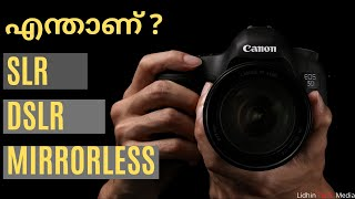 What Is SLR,DSLR And Mirrorless Camera In Malayalam