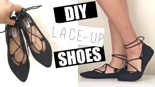 DIY Lace Up Shoes/Ballerina Flats