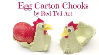 Egg Carton Crafts   Chicken Egg Cup