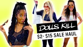 We Try the Cheapest Clothes from Dolls Kill!