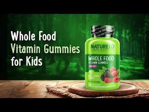 NATURELO, Whole Food Vitamin Gummies for Kids, Berry , 90 Gummies